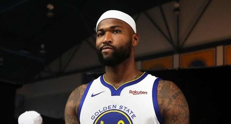 97bd46203 DeMarcus Cousins says Warriors GM Bob Myers thought his interest in joining  the team was a prank