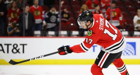 Watch Dylan Strome Scores His First Goal For Blackhawks