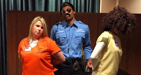 Russell Westbrook dresses as Steven Adams at the Thunder's annual ...