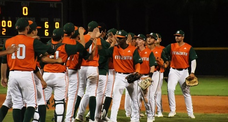 No 24 Miami 4, Virginia Tech 3: 'Canes Come Back Late at The