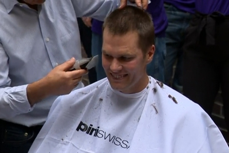 Tom Brady Raises $7.5 Million for Cancer Research by Shaving His Head