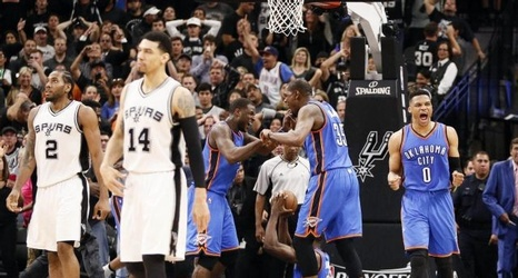 3f04e98d98ab NBA-Thunder level series with Game Four win over Spurs