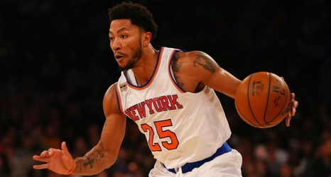 5e1f6937c74 Derrick Rose spotted at Knicks practice facility on Tuesday