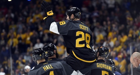 f2270fa1ea0 Morning Bag Skate: Former Blackhawk John Scott steals the show at 2016 NHL  All-Star Game