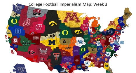 Kentucky gaining ground in College Football Imperialism Map