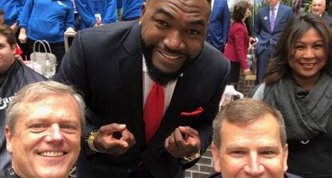 David Ortiz was a celebrity barber at a charity event Wednesday