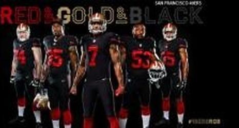 the latest b678f 1ede5 Report: 49ers to wear black alternate jerseys vs Vikings