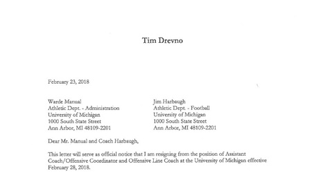 Read ex michigan oc tim drevnos resignation letter expocarfo Image collections