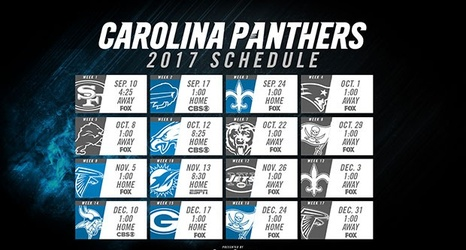 8ca2e2fc The Carolina Panthers 2017 Schedule Is Finally Here.