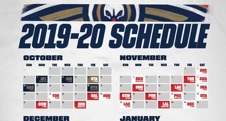 picture about Atlanta Braves Schedule Printable identify Down load a Printable Pelicans 2019-20 Routine
