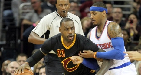 Cleveland Cavaliers wear black sleeved jerseys during Wednesday s game  against the Knicks  Fans and media react a472328bff10