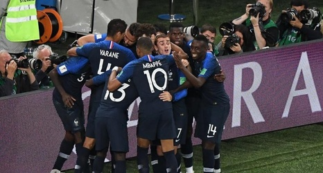 check out b903c e6f81 Samuel Umtiti Goal Sends Kylian Mbappe, France to World Cup ...