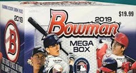 2019 Bowman Mega Box Chrome All The Dodgers Cards
