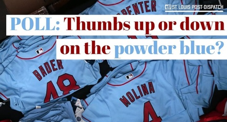 new arrival 9823b 5c8a0 Poll: Thumbs up or down on the powder blue Cardinals uniforms?