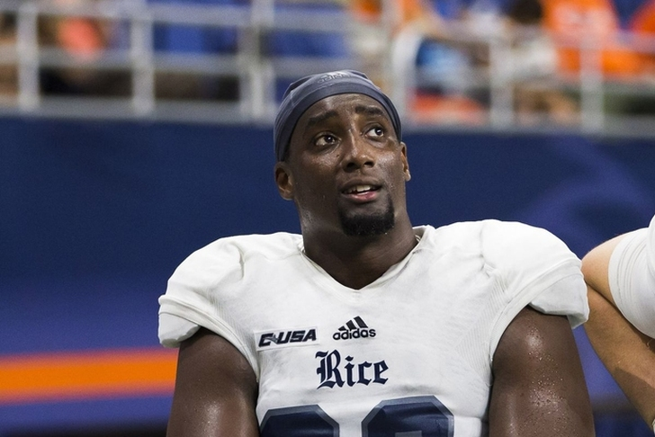 Texas lands Calvin Anderson, coveted OL graduate transfer from Rice