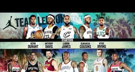 pretty nice db733 54899 LeBron James drafts Kyrie Irving as 2018 NBA All-Star ...