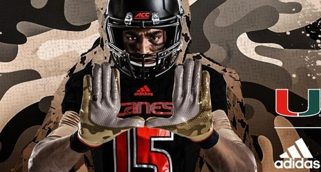 pretty nice 971eb f4e8e Miami Hurricanes new Military Appreciation Alternate Jerseys