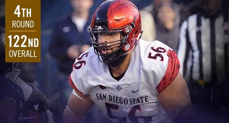 reputable site d0d7f ee799 Round 4 (No. 122): Ravens Select Offensive Guard Nico Siragusa
