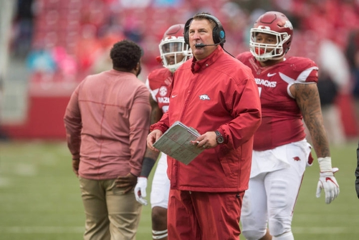 Arkansas fires Bret Bielema after season-ending loss to Missouri