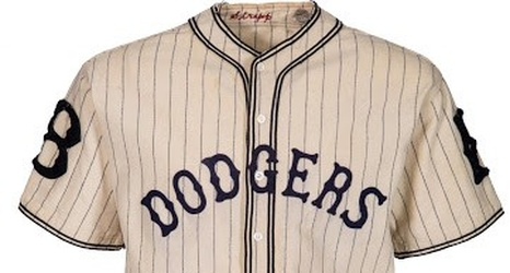 Check Out this Vintage Dodger Pinstripes Uniform - 1933 05fbea1a122