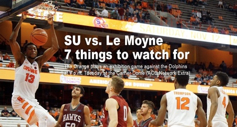 Syracuse Basketball Vs Le Moyne 7 Things To Watch For In