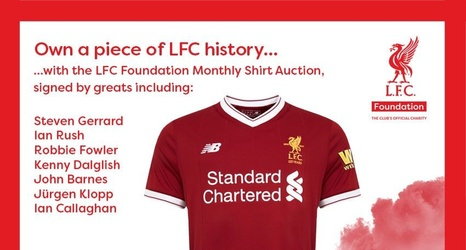 732ec31e7 Own a piece of history with the LFC Foundation 125 shirt auction