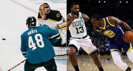 new concept 5c3f0 09321 Warriors, Sharks have best odds to stop 'Boston Slam,' and ...