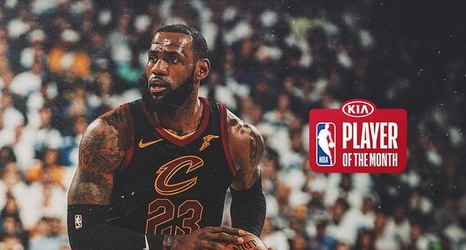 0afc80442 LeBron James Named Kia NBA Eastern Conference Player of the Month  December  2017