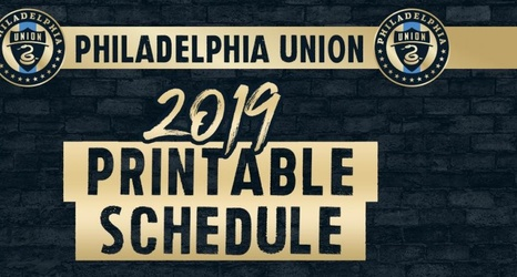graphic regarding Bulls Schedule Printable identify Printable 2019 Philadelphia Union routine