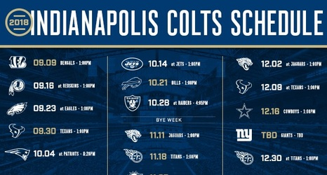 Indianapolis Colts Release 2018 Schedule