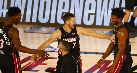 Nba Finals Injury Update Heat S Adebayo Reportedly To Miss Game 2 Dragic Still Undecided