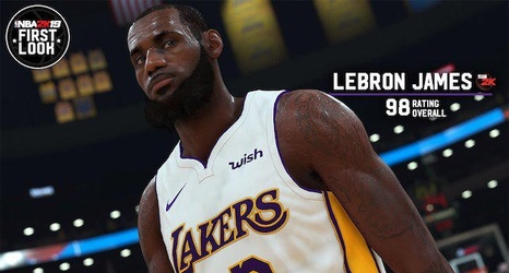 huge discount a5c81 b01c6 LeBron James Says NBA 2K19 Player Rating, White Lakers ...
