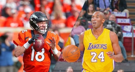 c9120ff611b5 Kobe Bryant gives Peyton Manning a congratulatory shout-out