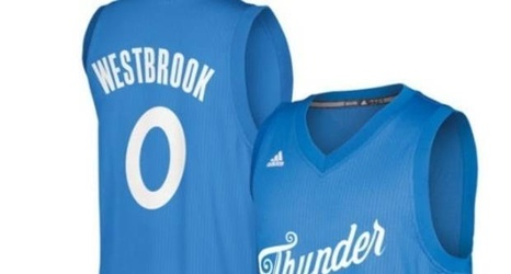 online retailer cd6c4 1755b PHOTO: What do you think of the Thunder's Christmas jerseys?