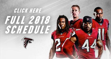 on sale 5c6ad 2c093 2018 Atlanta Falcons schedule released