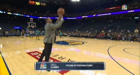Do not test your father, Stephen Curry, because Dell will pull up