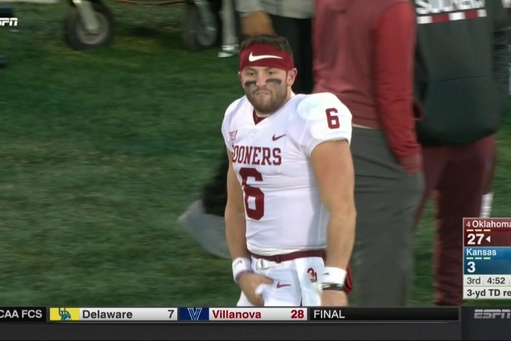 For obscene display, Baker Mayfield won't start Saturday for Oklahoma