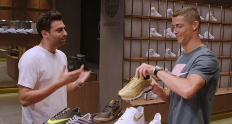 Cristiano Ronaldo goes sneaker shopping with Complex