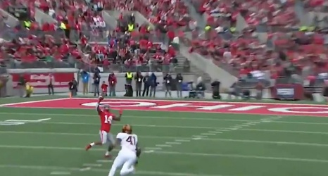 Kj Hill Snags A Dwayne Haskins Pass With One Hand Scores A 36 Yard