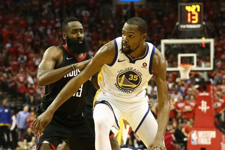 Rockets rout Warriors 127-105 to tie series at 1-all