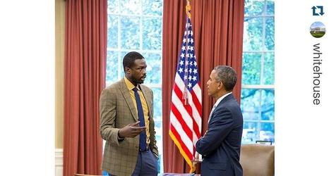 Miami Heat's Luol Deng Visits Barack Obama at White House
