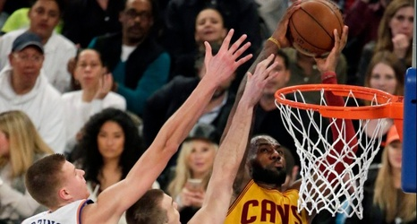 sale retailer deb78 d86d9 LeBron James  monstrous dunk sums up Knicks  sorry season. NY Post   March  27, 2016