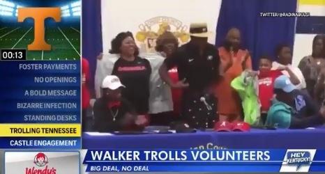 Four-Star Linebacker Quay Walker Trolls Tennessee at Signing