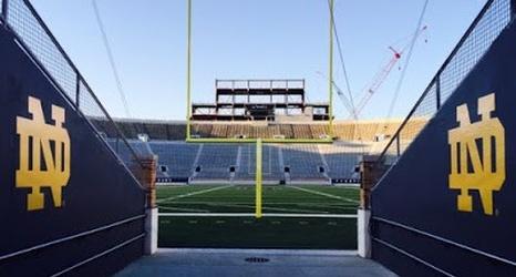 Notre Dame Stadium S Video Board Location