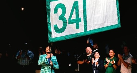 official photos dc271 2cdec Relive the best moments of the Paul Pierce jersey retirement ...