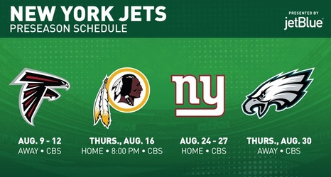 4dc8c172 2018 Schedule: Jets Reveal Preseason Slate