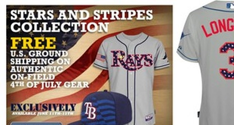 more photos 13d37 9ecf5 The Rays' 4th of July uniform looks like it was bedazzled by ...