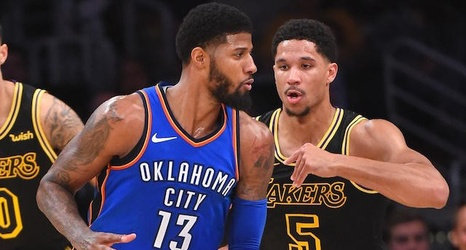 new style 4dc1c dd5b6 Lakers Video: Josh Hart Throws Paul George's Nike PG 1 In ...