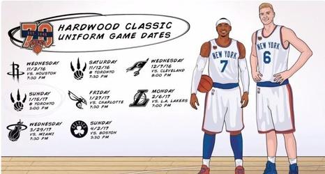 3040ed974 LOOK  Knicks unveil throwback Hardwood Classics jerseys