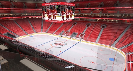 red wings season ticket holders receive high tech red carpet